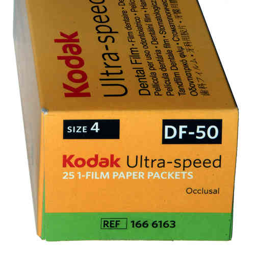 KODAK,Dental Rö.Einzelfilm,DF50, 5,7x7,6cm,25Stck.,Speed D